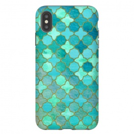 Aqua Moroccan Shapes Pattern  by Utart