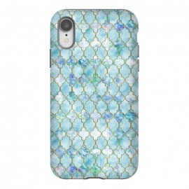 iPhone Xr  Blue Moroccan Shapes Pattern  by