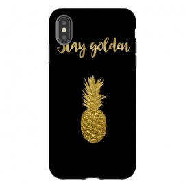 iPhone Xs Max  Stay Golden Precious Tropical Pineapple by Andrea Haase