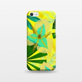 iPhone 5C  Colorful Yellow Green and teal Abstract Aloha Tropical Jungle by Utart