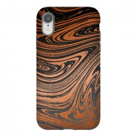 iPhone Xr  Copper Black Faux Marble by Andrea Haase