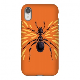 iPhone Xr  Winged Ant  Abstract Art by Boriana Giormova (ant, ants, insect, orange, animal, animals, insects, vector, vector ant, ant vector, ant drawing, wildlife, nature, bug, formica, ant artwork, ant art, ant lover, cool, bugs, illustration, flying ant, abstract ant, abstract, winged ant)