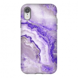 iPhone Xr  Ultra Violet Veined Marble by Utart