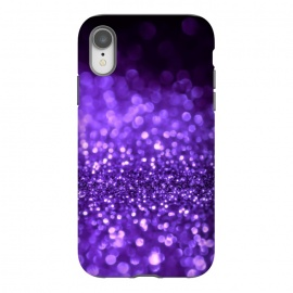 iPhone Xr  Ultra Violet Faux Glitter by Utart
