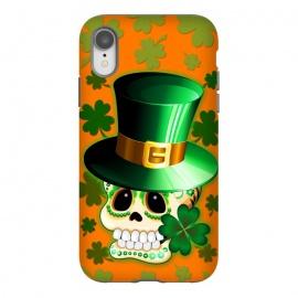 iPhone Xr  St Patrick Lucky Irish Skull Cartoon  by
