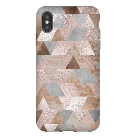 Rose Gold and Copper Triangle Pattern by Utart