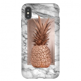 Copper Pineapple on Gray Marble  by Utart