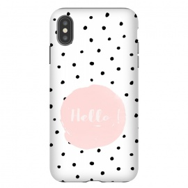 iPhone Xs Max  Hello on polka dots  by Utart