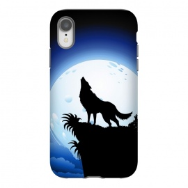 iPhone Xr  Wolf Howling at Blue Moon by