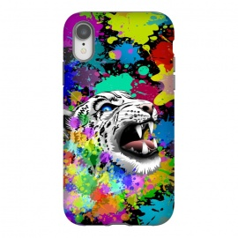 iPhone Xr  Leopard Psychedelic Paint Splats by BluedarkArt