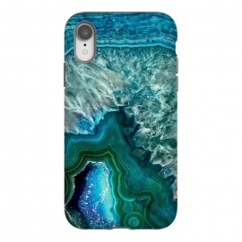 iPhone Xr  Ocean Blue Glitter Agate by Utart