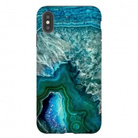 iPhone Xs Max  Ocean Blue Glitter Agate by Utart