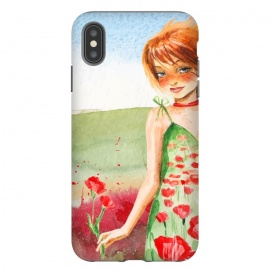 iPhone Xs Max  Summer Girl in Poppy field by Utart