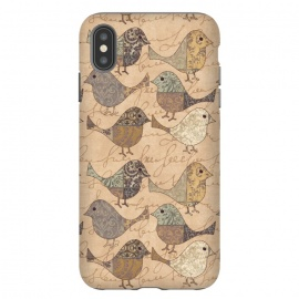 iPhone Xs Max  Patchwork Bird Pattern by Andrea Haase