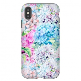 iPhone Xs Max  Pastel Spring hydrangea Pattern by Utart