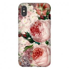 iPhone Xs Max  Roses and Hydrangea Pattern by Utart