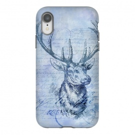iPhone Xr  Blue Nostalgic Deer by Andrea Haase