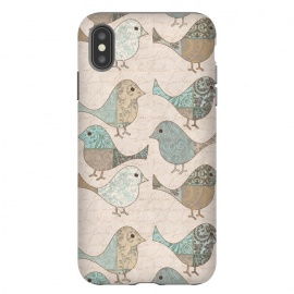 iPhone Xs Max  Cute Patchwork Birds by Andrea Haase