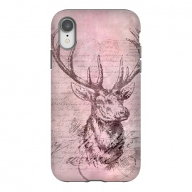 iPhone Xr  Vintage Deer Pastel Pink by Andrea Haase