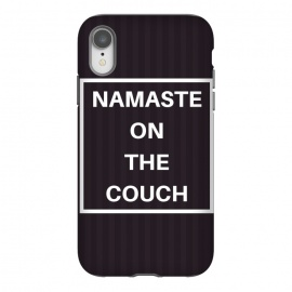 namaste on the couch by MALLIKA