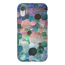 iPhone Xr  Multicolor Trendy Dots and Circles  by Utart
