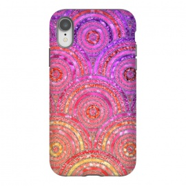 iPhone Xr  Multicolor Pink Gold Circles  by Utart