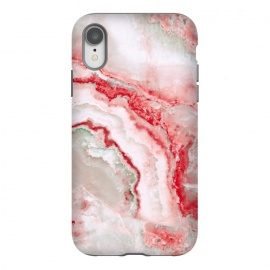 iPhone Xr  Coral Red Veined Agate by Utart