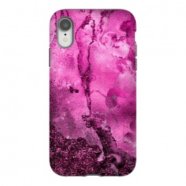 iPhone Xr  Purple and Pink Glittering Ink Marble by Utart
