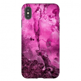 Purple and Pink Glittering Ink Marble by Utart