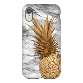 iPhone Xr  Gold Pineapple on Marble by Utart