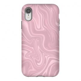 iPhone Xr  Marbled Pink Paint by Andrea Haase