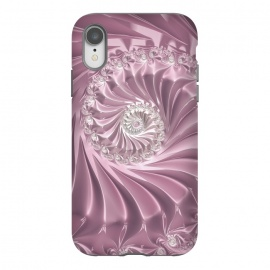 iPhone Xr  Soft Pink Glamorous Fractal by Andrea Haase