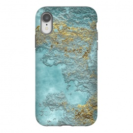 iPhone Xr  Gold Teal Minearal by Andrea Haase