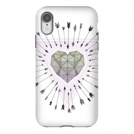 iPhone Xr  Young & Unafraid - Pink by  (heart,young,free,carefree,life,love,arrows,illustration,unafraid)