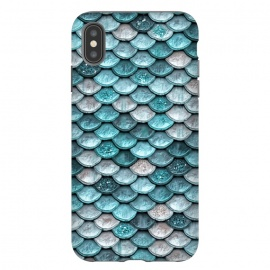 Silver and Blue Metal Glitter Mermaid Scales by Utart