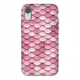 iPhone Xr  Pink Glitter Mermaid Scales by Utart