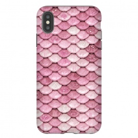 iPhone Xs Max  Pink Glitter Mermaid Scales by Utart