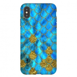 Blue and Gold Glitter Metal Mermaid Scales by Utart