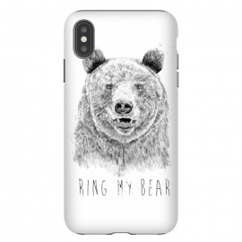 iPhone Xs Max  Ring my bear (bw) by Balazs Solti