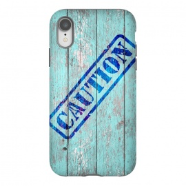 Caution Sign On Old Wooden Plank by Andrea Haase