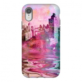 iPhone Xr  Surreal City Urban Mixed Media Art by