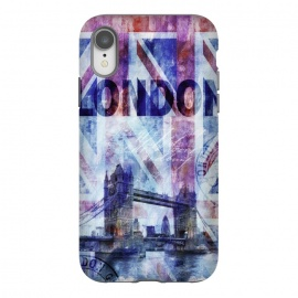 iPhone Xr  London Bridge Union Jack Mixed Media by
