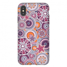 iPhone Xs Max  Glam Boho Rock in Purple and Orange by Paula Ohreen