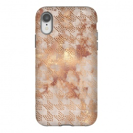 iPhone Xr  Geometrical modern Rose Gold Marble Pattern by Utart