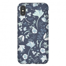 iPhone Xs Max  Beautiful Blooms in Blue by Paula Ohreen