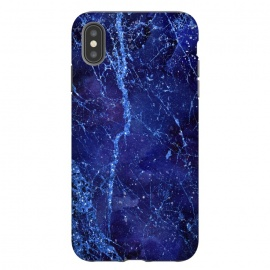 iPhone Xs Max  Blue Marbled Glitter by Andrea Haase
