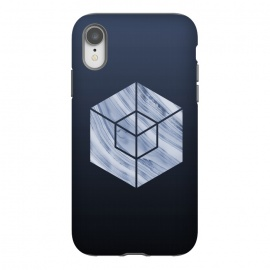 iPhone Xr  Marbled Hexagon In Shades Of Blue by Andrea Haase