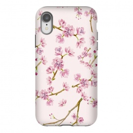 iPhone Xr  Pink Spring Cherry Blossom Pattern by Utart