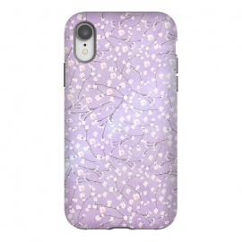 iPhone Xr  Purple Watercolor Spring Cherry Blossom Pattern by Utart