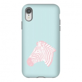 iPhone Xr  Pink Zebra by Martina (zebra,animal,nature,girly,feminine,for her,graphic,modern,illustration,pink)